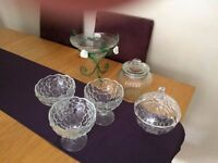 Selection of Dishes/jars Ideal for sweet trolley