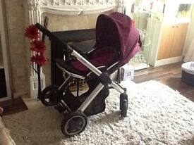 Oyster pram/puschair with both raincovers and accessories