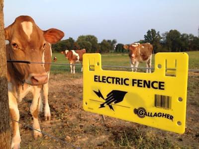 Electric Fence Warning Sign Hang-on Clip High Quality For Farm Ranch Home