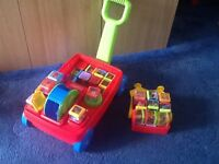 Fisher price learning blocks with wagon