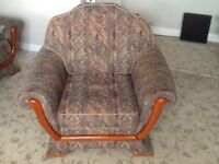 3-seater sofa and chair