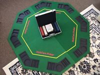 Poker board, chips and cards- full set.