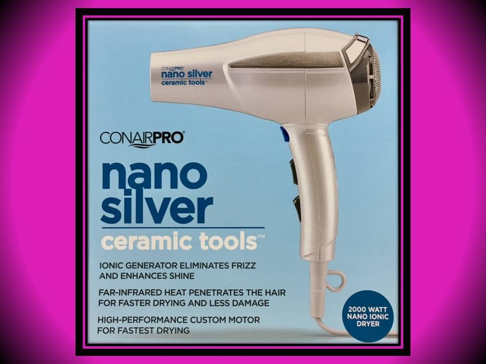 DENTED BOX CONAIR PRO NANO SILVER CERAMIC TOOLS 2000 WATT 6