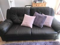2 and 3 seater dark brown leather sofas can deliver