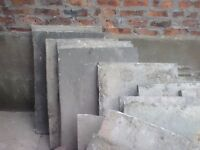 Set of 27 paving slabs (2 different sizes
