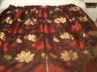 M& S lined curtains ( choc mix)