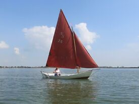 Scaffie type sailing/rowing open day boat.