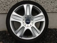 18INCH 5/108 GENUINE FORD ALLOY WHEELS WITH TYRES FIT MOST MODELS NO TEXTS PLEASE
