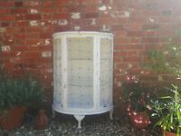 Distressed French Style Shabby Chic Farrow & Ball linen/ storage/ display cabinet