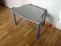 TV stand silver.
