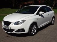 2011 11 SEAT IBIZA 1.4i 16V COPA *SPORT COUPE* 3 DR HATCH,*44000 MILES* FSH,DIGITAL CLIMATE & CRUISE