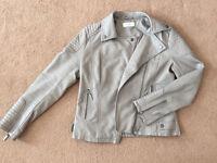 WALLIS Women's leather biker jacket. Size 10
