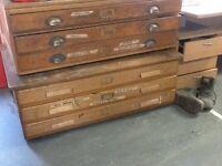 Plan chests - vintage