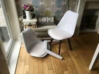 Tulip chairs X2 brand new
