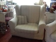 2 armchairs shabby chic remove able covers Castlereagh Penrith Area Preview