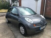 Nissan Micra 1.2ltr 3 door in graphite grey, covered only 63k Brand new mot and svs ideal small car