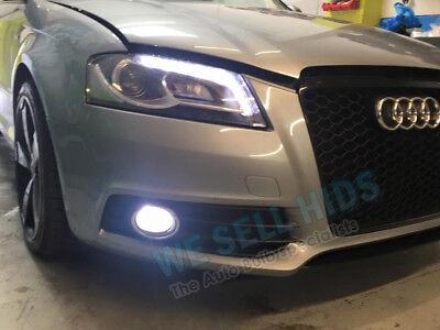 Audi A5 8T3 H11 100w Super White Xenon HID Front Fog Light Bulbs Pair