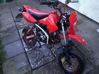 Road Legal 125cc Pittbike, 2015plate, 17Months Mot. Looking to swap for a bigger bike. or £395