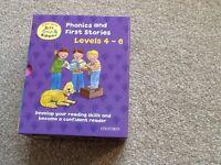 Phonics & first stories, 25 books, Biff, Chip & Kipper, levels 4-6