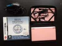 Nintendo DS Lite with Brain Training and accessories