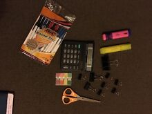Calculator, Clips, Highlighters, Post its Carlton Melbourne City Preview