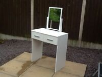 Prague high gloss white dressing table
