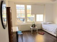 MASSIVE DOUBLE ROOM WITH ROOFTOP TERRACE FOR RENT IN VERY TRENDY BUILDING AT BRICK LANE