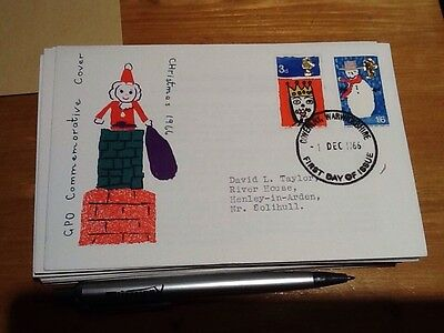 GB GPO CHRISTMAS 1966 Commemorative Cover Fdc