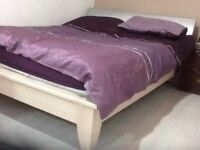 Double bed with mattress used but in good condition