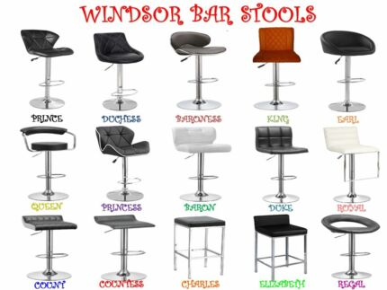 WINDSOR BAR STOOLS NEW. 17 DIFFERENT MODELS TO CHOOSE FROM.