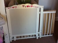 Ikea White Cot/Bed (including Mattress, Sheets and Bumper)