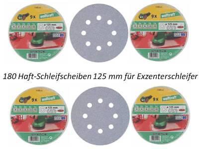 180 Wolfcraft Haft Schleifscheiben 125 mm für Exzenterschleifer Schleifpapier +