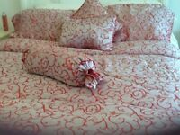 Lovely King Size Comforter set ,,,,THROW........ PLUS King Size Quilt