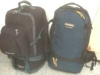From £30 upto £45 each-large rucksacks 55 litres upto 90 litres capacity-all lightly used,no damage