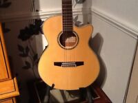 IBANEZ NYLON STRUNG ELECTRO .WITH 4 BAND GRAPHIC £100 ONO