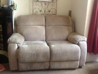 2 Seater Fabric electric Recliner Sofa.