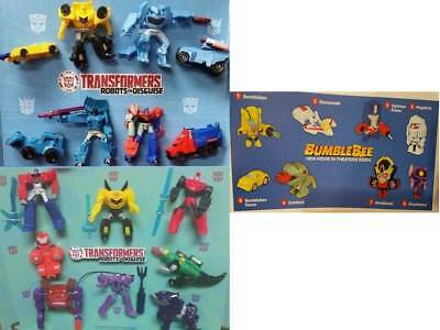McDonald's 2018, 2016 & 2015 - Transformers - Choose your toy - FREE SHIPPING