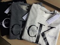Calvin Klein Mens Womens UNISEX Full Sleeve Sweatshirt Big Print Jumper for Wholesale Only