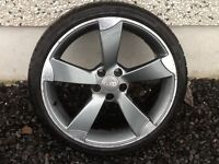 19INCH 5/112 TTRS ALLOY WHEELS WITH TYRES FIT AUDI VW SEAT ETC