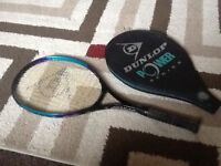 Dunlop power plus tennis racket with cover