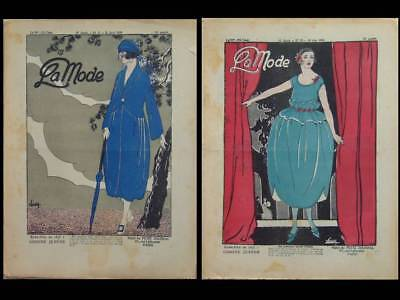 LA MODE -2 N°- 1920 - FRENCH FASHION MAGAZINE -WOMAN FASHION, ART DECO