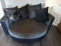 DFS 2 seater sofa cuddle chair with storage