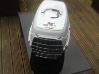 Cat carrying basket/ litter tray/ food items. For sale due to the sad death of our cat.