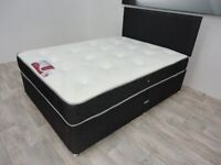 Quick Delivery ! Small Double Bed & Mattress ! Grey & Black Color