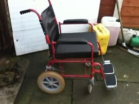 WHEELCHAIR FOLDING TYPE WITH CUSHION