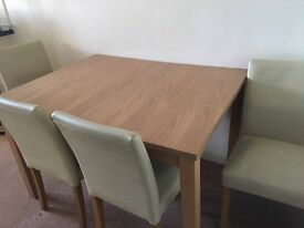 dinning table with 4 chairs - good condition