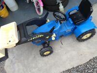 Kids Tractor & Loader - Blue Rolly