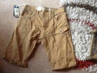 """Cross hatch men's shorts waist 34"""" new"""