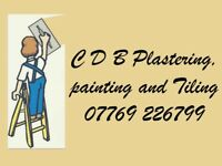 CDB plasterer, painter and tiler