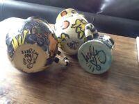Three studio pottery jugs